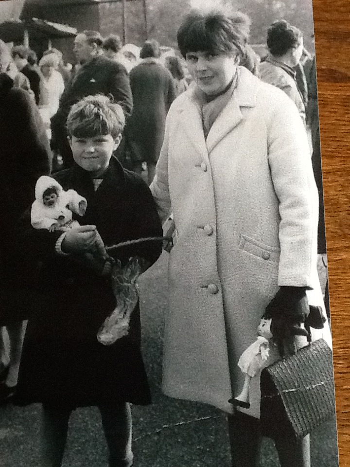 Steve and Mum aged 8