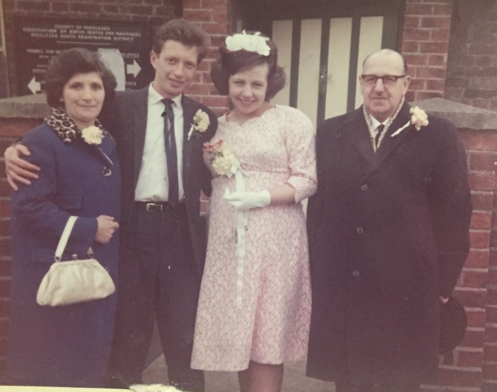 Mum dad nanny flo and grandad arthur